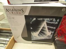 Assassins Creed Battery & USB Powered Free Standing Or Wall Mounted Optical Illusion LED Light.