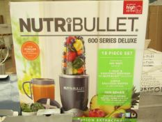 | 1X | NUTRIBULLET 600 SERIES DELUXE | UNCHECKED AND BOXED | NO ONLINE RE-SALE | SKU - | RRP £69.
