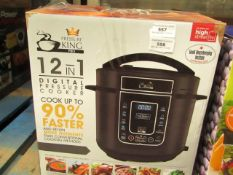 | 1X | PRESSURE KING PRO 12 IN 1 DIGITAL PRESSURE AND MULTI COOKER | UNCHECKED AND BOXED | NO ONLINE