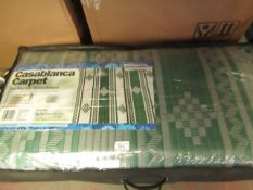 Casablanca Carpet Eco Friendly Groundsheet. 2.5m x 6m. RRP £40 on ebay New & In a Carry Bag