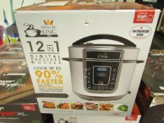 | 1X | PRESSURE KING PRO 12 IN 1 DIGITAL PRESSURE AND MULTI COOKER | UNCHECKED AND BOXED | NO