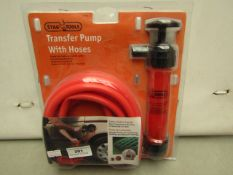 Stag Tools Transfer Pump with Hoses. New & packaged