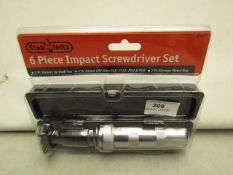 Stag Tools 6 Piece Impact Screwdriver Set. New & packaged