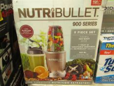 | 1x | NUTRIBULLET 900 SERIES | UNCHECKED AND BOXED | NO ONLINE RE-SALE | SKU C5060191467353 |