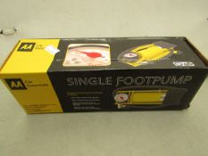 AA Single Foot Pump with Adapters. New & Boxed