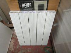 REINA ENZO - Aluminium wall Radiator, White - 470x600mm