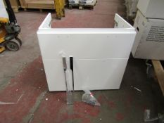 Twyford wash basin unit, 750 x 480mm, new and boxed.