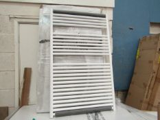Tissino Hugo series 2 Chunky 1212x750mm White towel radiator, new and boxed.
