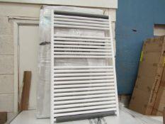 Tissino Hugo series 2 Chunky 1212x750mm White towel radiator, new and boxed.