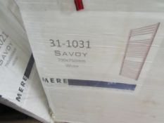 Mere Savoy 790x750mm White Towel Rail - New.