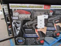   1x   AIR HAWK MAX   PAT TESTED AND BOXED   NO ONLINE RE-SALE   SKU C5060191469609   RRP £59:99  