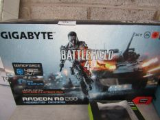 GIGABYTE - Radeon R9 290 - 4096MB GDDR5 - BattleField 4 - Untested and boxed.
