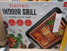 | 1x | ELECTRIC INDOOR GRILL | PAT TESTED AND BOXED | NO ONLINE RE-SALE | SKU C5060541512825 |