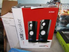 AUDIOCORE - USB Speaker Portable - AC860 - Untested and boxed.
