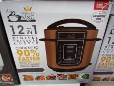 | 1X | PRESSURE KING PRO 12 IN 1 DIGITAL PRESSURE AND MULTI COOKER | PAT TESTED AND BOXED | NO