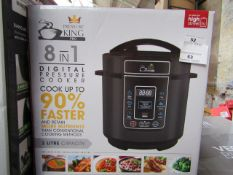 | 1X | PRESSURE KING PRO 8 IN 1 DIGITAL PRESSURE AND MULTI COOKER | PAT TESTED AND BOXED | NO ONLINE