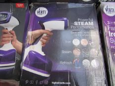   1X   VERTI STEAM PRO   UNCHECKED AND BOXED   NO ONLINE RE-SALE   SKU C5060191467445   RRP £39.99  