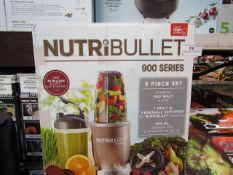 | 1x | NUTRIBULLET 900 SERIES | PAT TESTED AND BOXED | NO ONLINE RE-SALE | SKU C5060191467353 |