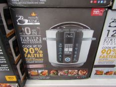 | 1X | PRESSURE KING PRO 20 IN 1 DIGITAL PRESSURE AND MULTI COOKER | PAT TESTED AND BOXED | NO