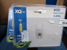 5x Eco Halogen Bulbs 2.000h - All packaged.