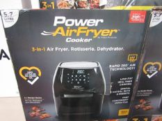 | 1x | POWER AIR FRYER COOKER 5.7L | UNCHECKED AND BOXED | NO ONLINE RE-SALE | SKU