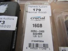 CRUCIAL - 16GB DDR4-2400 - Untested and packaged.