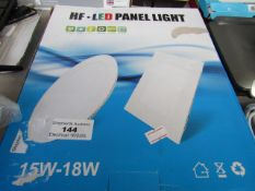 HF - LED Panel light 15/18W - Untested and boxed.