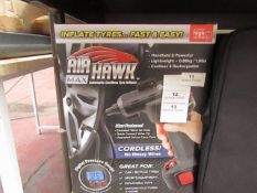 | 1x | AIR HAWK MAX | PAT TESTED AND BOXED | NO ONLINE RE-SALE | SKU C5060191469609 | RRP £59:99 |