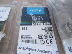 CRUCIAL - 8GB DDR4-2666 - Untested.