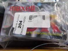 Maxell - 4 Plain Cassette Tapes - Packaged.