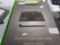 """FUISON - 10.1"""" Docking Keyboard - Untested and boxed."""