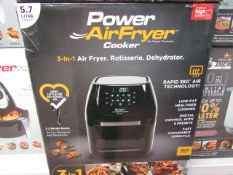 | 1x | POWER AIR FRYER COOKER 5.7L | PAT TESTED AND BOXED | NO ONLINE RE-SALE | SKU C5060541510937 |