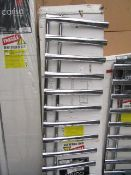 Carisa Nero Chrome 500x1600 radiator, with box, RRP £438, please read lot 0.