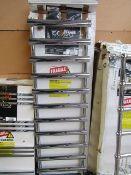 Carisa Aldo Chrome 500x1600 radiator, with box, RRP £420, please read lot 0.