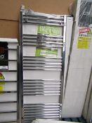 Carisa Nile Chrome 600x1600 radiator, with box, RRP £139, please read lot 0.