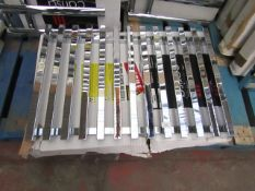 Carisa Zara Chrome 825x550 radiator, with box, RRP £219, please read lot 0.