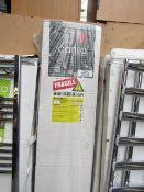 Carisa Zara Chrome 340x1800 radiator, still sealed in the box, RRP £315, please read lot 0.