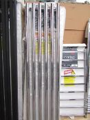 Carisa Mayra Chrome 420x1800 radiator, with box, RRP £510, please read lot 0.
