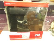 2xMicrosoft notebook cooling case, untested and boxed.