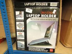 10x Universal laptop holders, new and boxed.