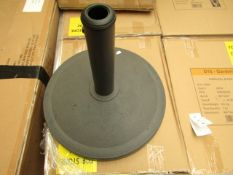 8kg Universal Parasol base. New & Boxed