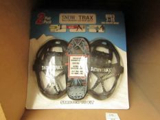 2 Pack of Snow Trax Mens 7 - 11. Helps you to walk through the snow & Ice