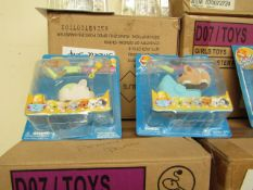 3x Boxes of 8 Zhu Zhu hamster toys, designs may vary due to being picked a random, new and boxed.