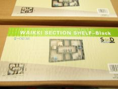 Waikki section shelf in black, new and boxed.