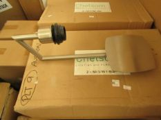 2 x Chrome Chelsom Walllights. New & Boxed