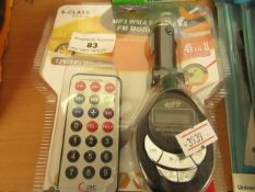 MP3 In car transmitter, new and packaged.