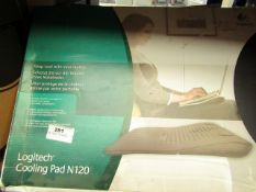 Logitech cooling pad, untested and boxed.
