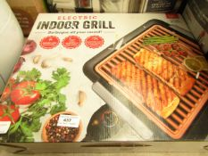 | 1x | ELECTRIC INDOOR GRILL | UNCHECKED AND BOXED | NO ONLINE RE-SALE | SKU C5060541512825 | RRP £
