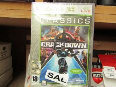 2 x XBOX 360 Crackdown Classics. New in a sealed case