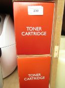 2x Toner cartridges, both new and boxed.